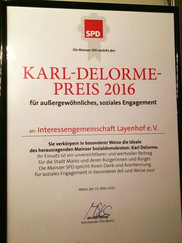 Karl-Delorme-Preis 2016