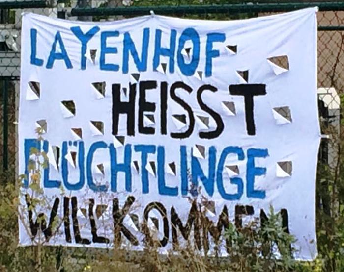 Layenhof heißt Flüchtlinge willkommen